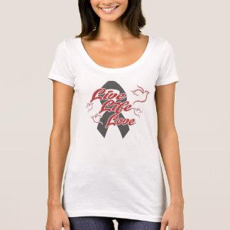 Women's scoop neck T-shirt w/LLL Red/Grey logo
