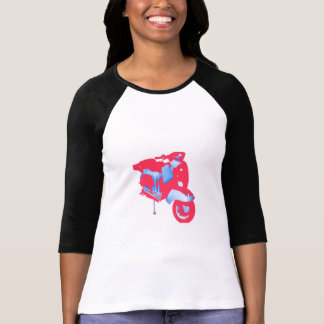 Women's Scooter Long Sleeve Contrast T-Shirt