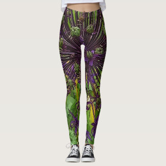 Womens Sexy Flower Web of Color Leggings