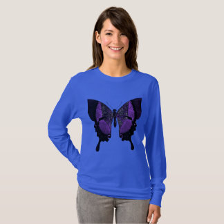 Women's Shirt With Purple Butterfly
