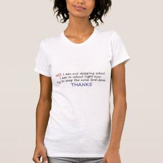 Womens Size Not Skipping School Light Shirt Design