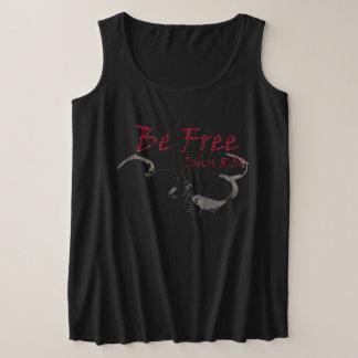 Women's +Size Tank Top Be Free logo2