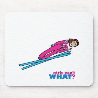 Womens Ski Jumping Mousepad