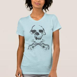 Womens Skull and Guitars T-Shirt