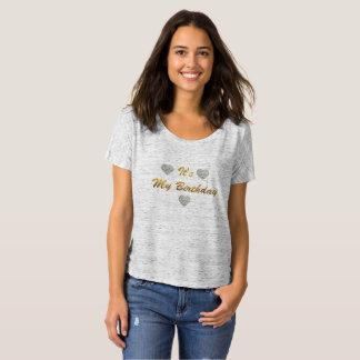 Women's Slouchy Boyfriend, T-Shirt My Birthday