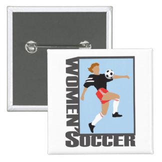 womens soccer graphic logo button