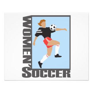 womens soccer graphic logo 11.5 cm x 14 cm flyer
