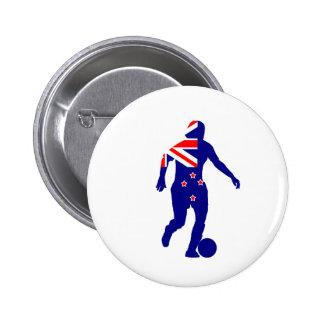 Women's Soccer New Zealand 6 Cm Round Badge