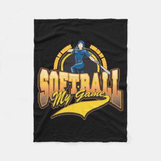 Womens Softball My Game Fleece Blanket