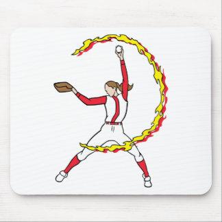Womens Softball Pitcher Mouse Pad