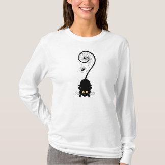Womens Spider Cat Halloween T-Shirt