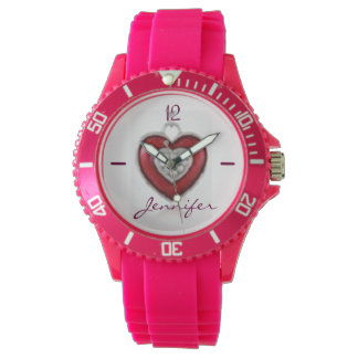 Women's Sporty Pink Silicon Watch The perfect gift