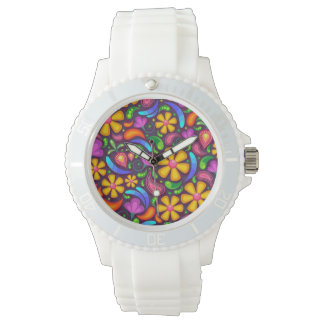 Women's Sporty White Silicon Wrist Watch