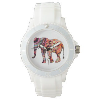 Women's Sporty White Silicon Wrist Watch