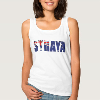 Womens STRAYA Singlet Basic Tank Top