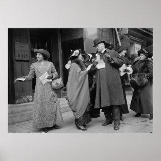Women's Suffrage Handouts, 1913 Poster