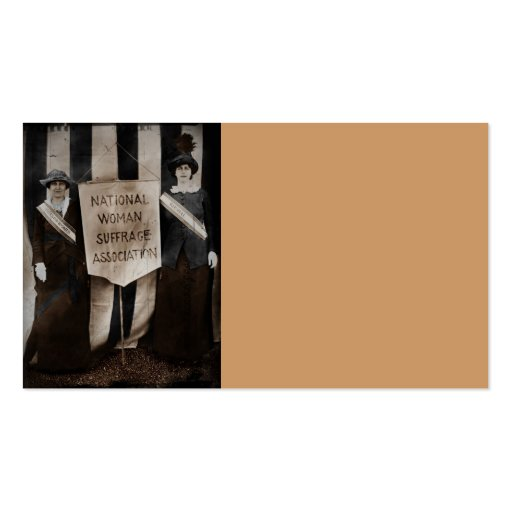 Women's Suffrage Movement Business Card Templates
