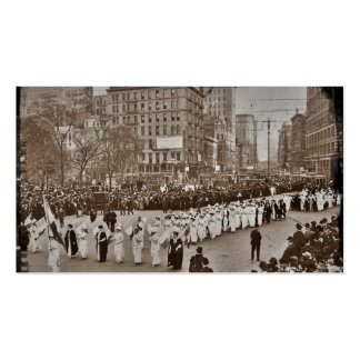Women's Suffrage Parade 1912 Double-Sided Standard Business Cards (Pack Of 100)