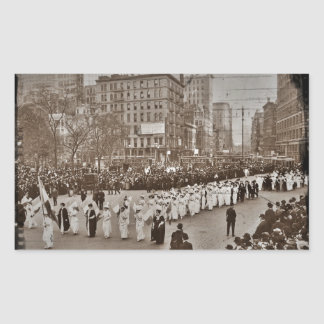 Women's Suffrage Parade 1912 Rectangle Stickers