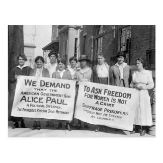 Women's Suffrage Pickets, 1917 Postcard