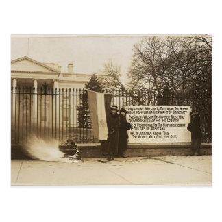 Women's Suffragette Bonfire in Washington D.C. Postcard