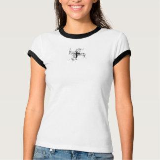 Women's Swirl Cross Design Short Cap Sleeve Tee