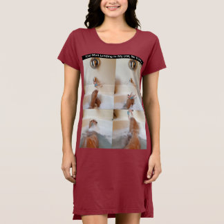 Women's T-Shirt Dress with More Coffee Please