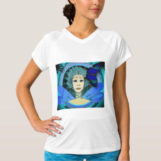 Women's T-Shirt - Fairy with a Blue Butterfly