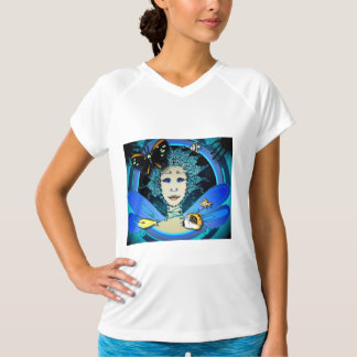 Women's T-Shirt - Fairy with Butterfly & Fishes