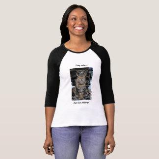 Women's T-shirt with Calm Cinque Terre Cat