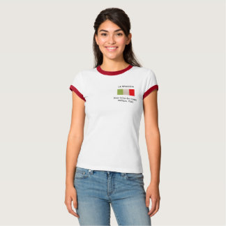 Women's T-Shirt with Italian flag.