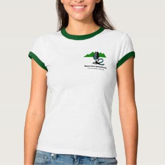 "Women's T-shirt with ""Mic & Mtn"" logo"