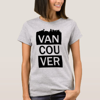 Women's t-shirt with Vancouver lettering