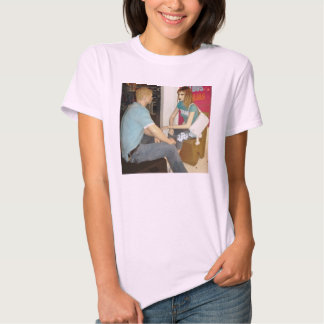 Womens' T-shirts with mannequins face to face