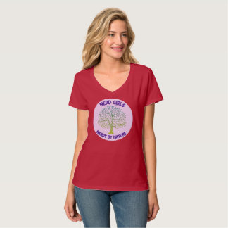 Women's T With Large Nerdy by Nature Logo T-Shirt