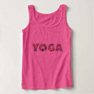 Women's Tank Top Yoga Flower Font