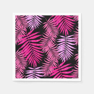 Womens Teen Girls Faux Glitter Palm Tree Leaf Paper Napkin