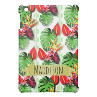 Women's Teen Girls Personalized Tropical Leaf Case For The iPad Mini