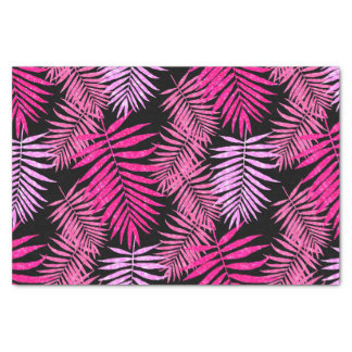 Womens Teen Girls Pink Faux Glitter Palm Tree Leaf Tissue Paper