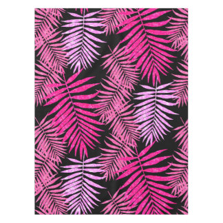 Womens Teen Girls Pink Palm Tree Leaf Faux Glitter Tablecloth