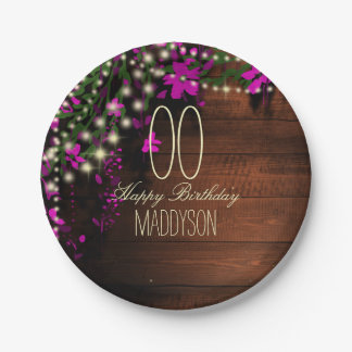Women's Teen Girls Rustic Country Garden Party Paper Plate
