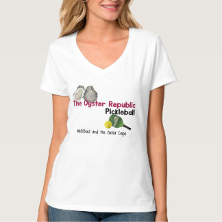 Women's  The Oyster Republic- Wellfleet Pickleball T-Shirt