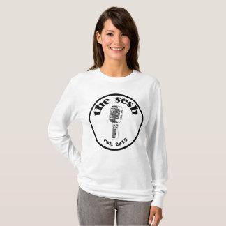"""Women's """"the sesh"""" Crest White Long-Sleeved Shirt"""
