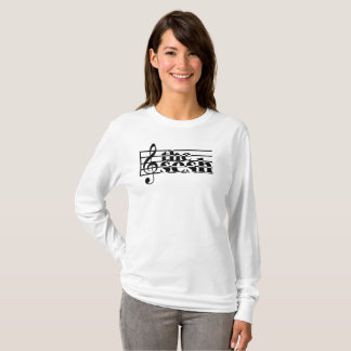 "Women's ""the sesh"" Musical Scale Long-Sleeve T-Shirt"