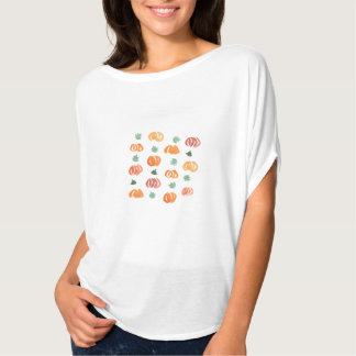 Women's top with pumpkins and leaves