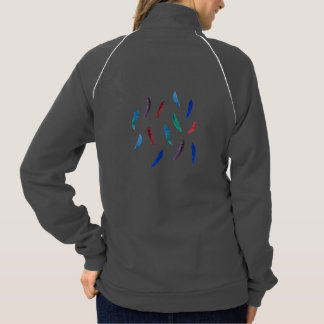 Women's track jacket with feathers
