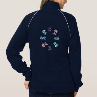 Women's track jacket with jellyfishes