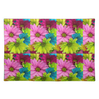 women's trendy colorful flower cloth place mat