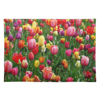 women's trendy spring flower cloth place mat