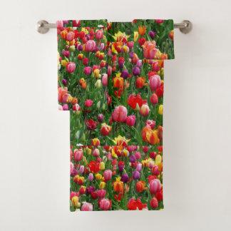 women's trendy spring  flower towel  set